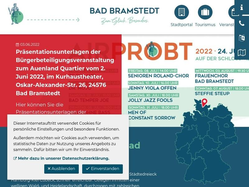 Screenshot von www.bad-bramstedt.de