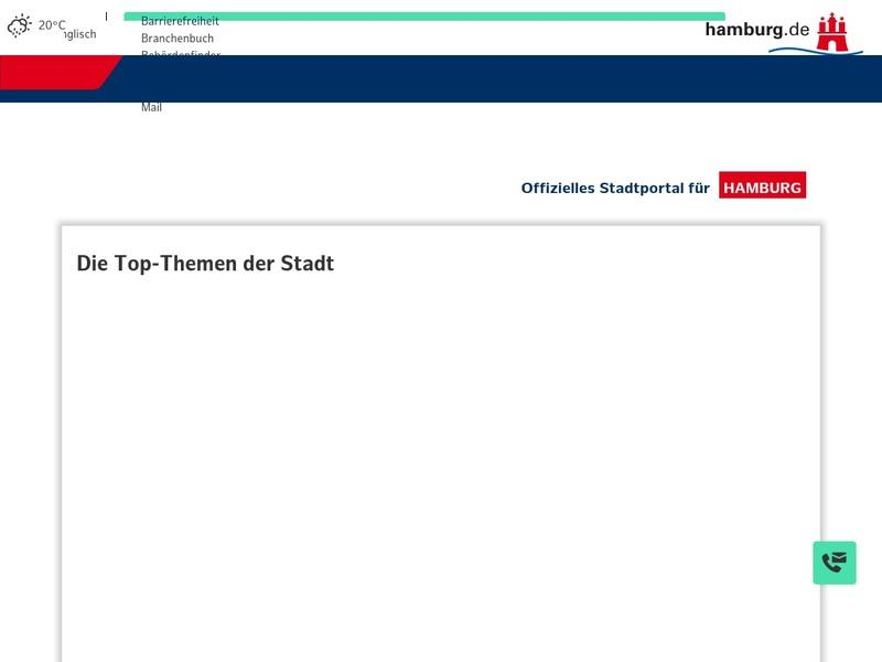 Screenshot von www.hamburg.de